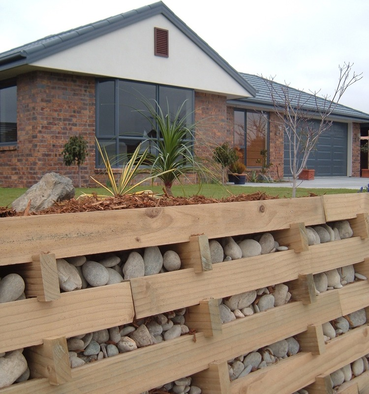 How to build a timber crib retaining wall